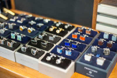 Profuomo and Michaelis cufflinks at Chadds Menswear