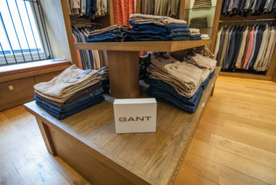 Gant chino and jean display