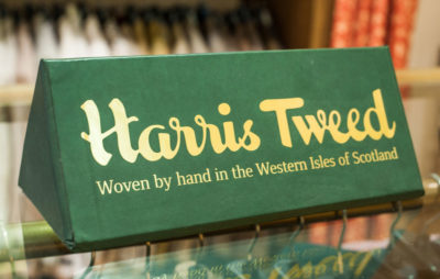 Harris Tweed stand