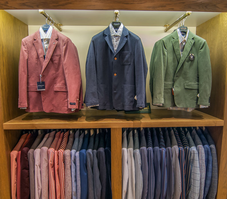 Cotton jacket display at Chadds Norwich