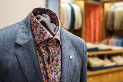 Gant casual jacket with floral shirt